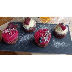 4ks Čokoládové cupcakes skrémem zrůžové tequily