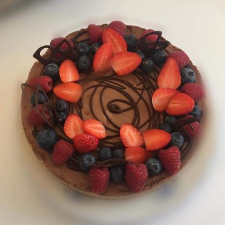 1ks Čokoládový cheesecake, 1,2kg průměr 24 cm